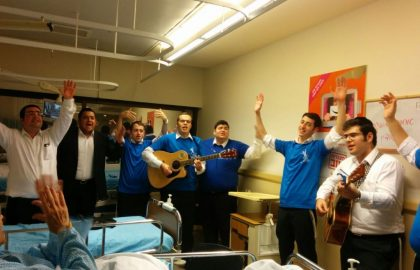 Thursday night kumzitz In Tel Hashomer