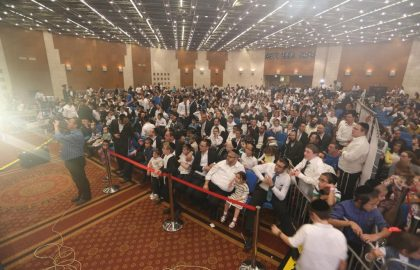 """Chol Hamoed Event 2017"" Beautiful chol hamoed event hosted by Blev Echad for the hundreds of children in need & their families."