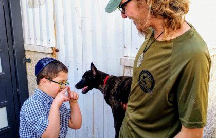 הכלבים באו לשמח את הילדים של 'בלב אחד'