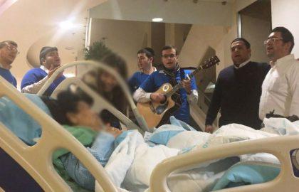 עוד ביקור משמח בבית החולים תל השומר