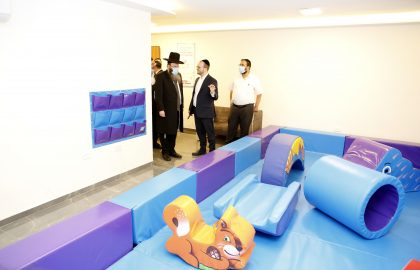 we dedicated the first play area for children with special needs • in Jerusalem.